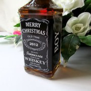 Personalized labels bottles for christmas