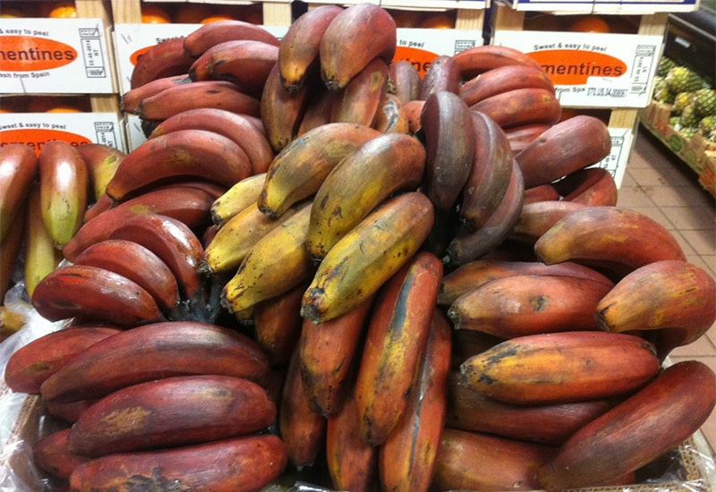Red Bananas Ripe